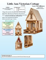 Laser Dollhouse Designs - Little Anne Victorian Cottage