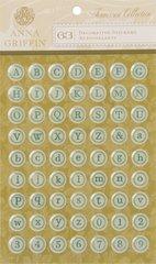 Anna Griffin Epoxy Stickers Typewriter (Francesca Collection)