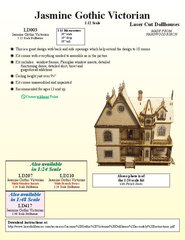 Laser Dollhouse Designs - Jasmine Gothic Victorian Large Kit