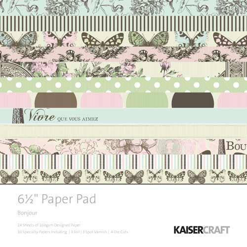 KaiserCraft 6.5 x 6.5 Paper Pad (Bonjour Collection)