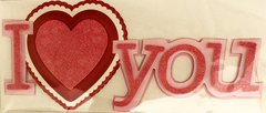 Anna Griffin 3-D Title Stickers I Love You (Valentina Collection)