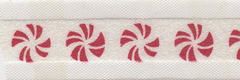 Celebrate It Ribbon 5/8 Inch Red & White Peppermint Candy Sheer Satin Ribbon