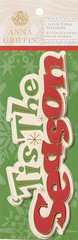 Anna Griffin 3-D Title Stickers 'Tis the Season (Twinkle Bright Collection)