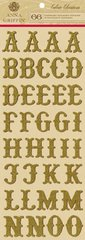 Anna Griffin Chipboard Alphabet Stickers (Calisto Christmas Collection)