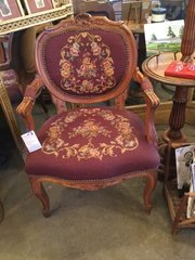 French needle point chair