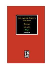 Lancaster County, Virginia Records 1652-1655 ( Vol. #22).