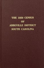 1850 CENSUS of ABBEVILLE DISTRICT, SOUTH CAROLINA.