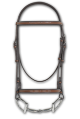 ERS RODRIGO PESSOA® FANCY RAISED PADDED BRIDLE W/ RAISED FANCY STITCH LACE REINS