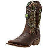 John Deere 2248 Western Boot (Toddler/Little Kid),Camo/Green Stitch,12 D