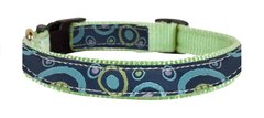 Fancy Nylon Ribbon Dog Collars in TEN Ribbon Choices