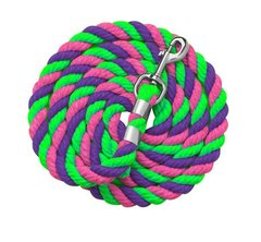 "1/2"" x 6 foot Neon Colored Cotton Leads in MULTI-COLOR Combinations"