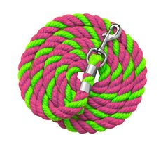 "1/2"" x 6 foot BRIGHT Colored Cotton Leads in two Different Color Combinations"