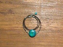 Turquoise Disc Boho Wrap Bracelet