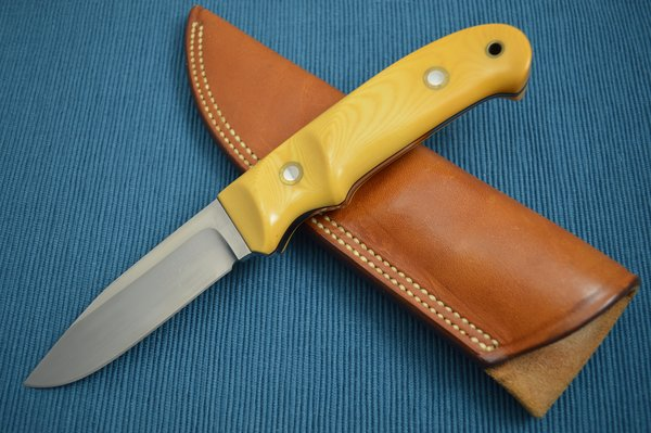 Herman J. Schneider Custom Drop Point Hunting Knife #373 (SOLD)
