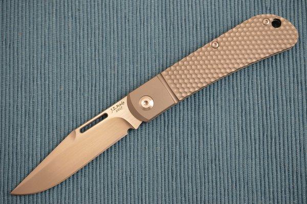 "J.E. Made Titanium ""Honeycomb"" Slip-Joint Folder, S35VN (SOLD OUT)"