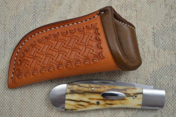 Raymon Hunt J.S. Swayback Jack Slip Joint Folder, Bark Mammoth Ivory (SOLD)