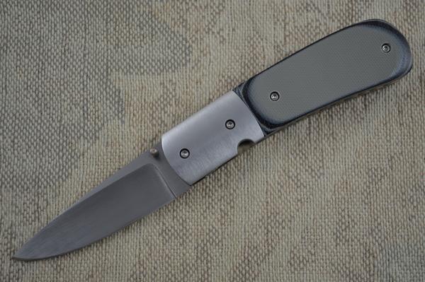 Mike Dilluvio Grey G10 Liner Lock Folder