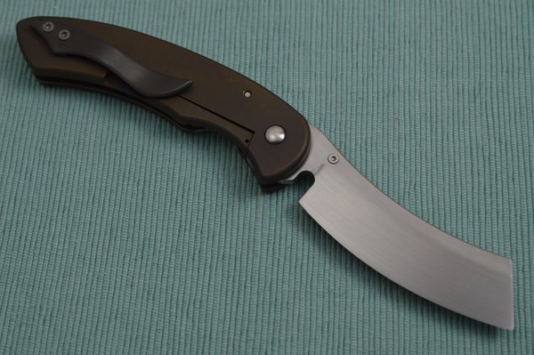 Red Horse Knife Works Level 2 Deluxe HELL RAZOR, Hand Rubbed, Zero Ground CPM154 Blade