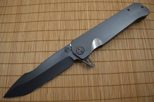 Medford Knife and Tool GIGANTES, Frame-Lock Flipper, Black PVD Coated