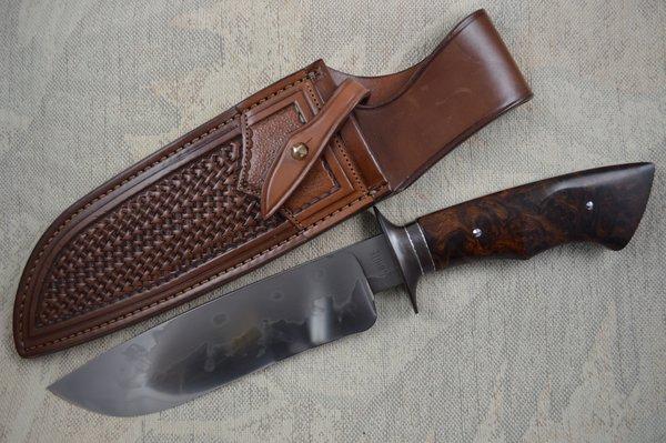 "John White, MS, 7 1/2"" W-2 Camp Knife, Paul Long Sheath (SOLD)"