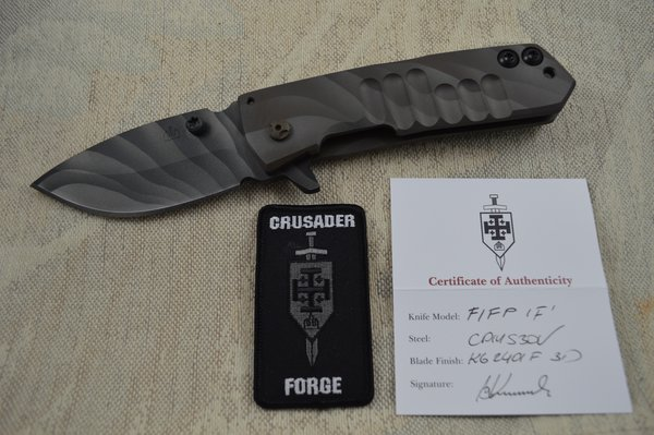 """Crusader Forge FIFP, """"Fear Is For Prey"""" Tactical Frame-Lock Flipper Folding Knife (SOLD)"""