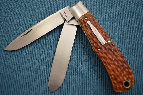Enrique Pena Classic Remington 1123 Bullet Two-Blade Trapper Folding Knife (SOLD)