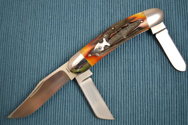 Bill Ruple Stag 3-Blade Sowbelly (SOLD)