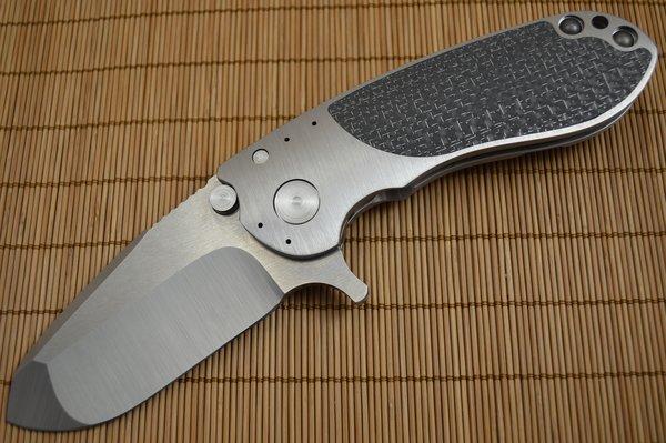 Direware S-96 Flipper, Titanium Frame LSCF Inlays, Satin M390 Blade (SOLD)