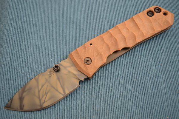 Crusader Forge FIFP Metro Dammeron Camo Finish, Frame-Lock Folder, Coyote Brown G10 (SOLD)