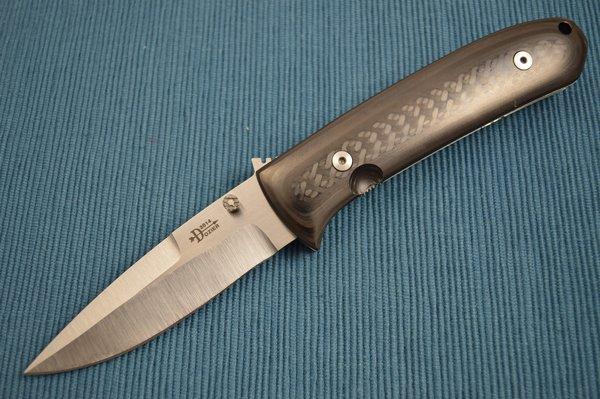Bob Dozier DK-3 Carbon Fiber, D2, Tactical Utility Custom Folding Knife