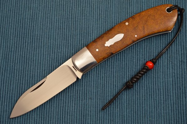 Tom Ploppert DINO, Original Antique Brown Rag Micarta Scales (SOLD)