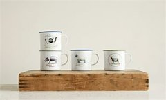 Enamel Farm Mugs