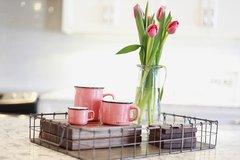 Enamel Look Mugs - Coral - Coffee/Cappuccino/Espresso