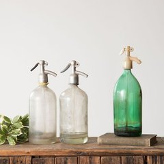 Antique Glass Soda Bottle