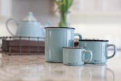 Enamel Look Mug - Mint - Coffee/Cappuccino/Espresso