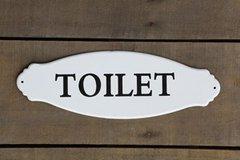 Enamel Toilet Sign