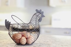 Chicken Wire Egg Basket
