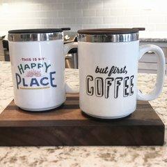 But First Coffee Insulated Travel Mug