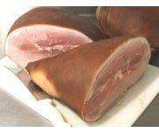 Skin On old-fashioned cured ham smoked half leg