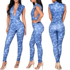 Plush Denim Jumpsuit