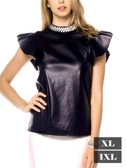 Crystal Leather Top