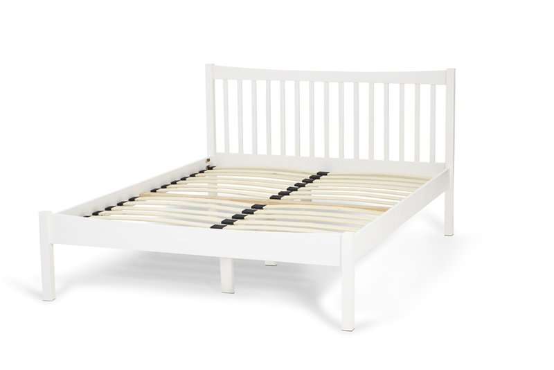 Serene Alice Opal White Wooden Bed Frame With Free Delivery