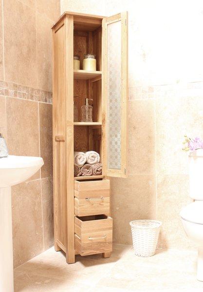 baumhaus mobel solid oak fully. baumhaus mobel solid oak fully assembled tall closed bathroom unit