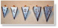 Pyramid Sinker - 2.5oz 7pcs