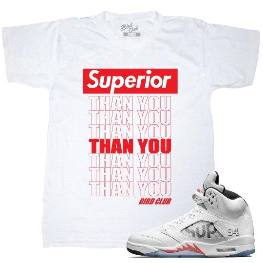 """Supreme x Air Jordan 5 """"Superior"""" tee"""