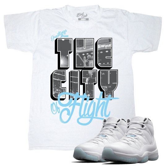 AIR JORDAN 11 COLUMBIA CITY OF FLIGHT T-SHIRT