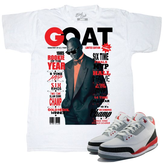 AIR JORDAN 3 FIRE RED TEE