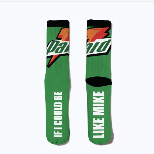 "Gatorade 6 ""Be Like Mike"" matching socks"