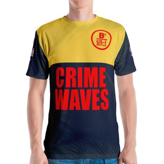 Snow Beach Crime Waves shirt