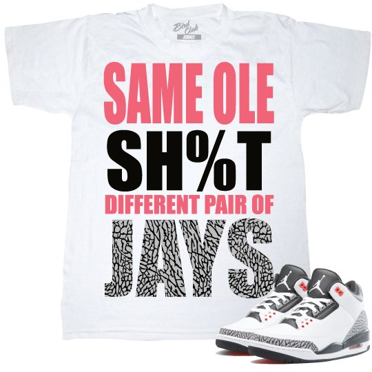 INFRARED 3'S SNEAKER MATCHING SHIRT